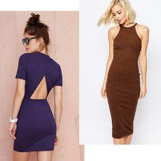 e16f8afa50 Vestidos de Malha Canelada são ótimas opções para o dia-a-dia ou numa