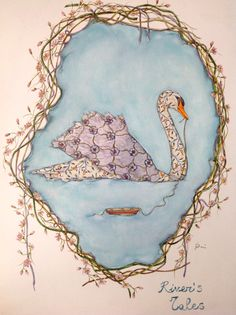 Swan watercolor painting #illustration