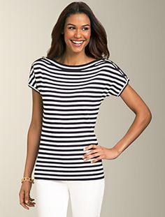 Talbots - Nautical-Stripe Sweater | New Arrivals | Misses