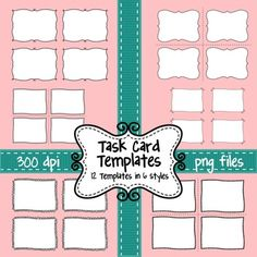 FREE Task Card Template Design EDITABLE Ready To Use Pencil - Task card template