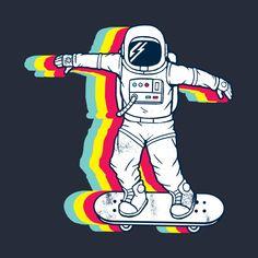 Wallpaper Iphone - Check out this awesome 'Spaceboarding' design on Arte Pop, Doodle Art, Cartoon Wallpaper, Iphone Wallpaper, Art Sketches, Art Drawings, Pop Art, Astronaut Wallpaper, Mini Canvas Art