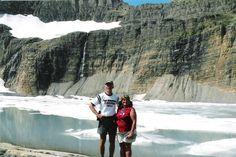 Hike to Grinnell Glacier, Glacier National Park, Montana, July 2007.