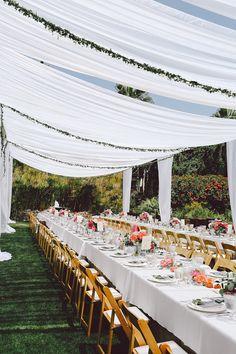 Reception Tuscan Table - photo by Evangeline Lane Photography http://ruffledblog.com/tuscan-countryside-inspired-wedding-in-la-jolla