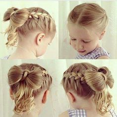 170 Easy Hairstyles Step By Step Diy Hair-styling Can Help You To Stand Apart From The Crowds - Hair Styles - Hair Style Ideas Little Girl Hairdos, Princess Hairstyles, Flower Girl Hairstyles, Pretty Hairstyles, Cute Hairstyles, Braided Hairstyles, Little Girls, Teenage Hairstyles, Wedding Hairstyles