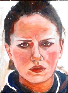 Anna Sidorova, curling, Russia. Acrylic on paper