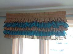 Ruffled Curtains- Burlap Valance- Ruffled Burlap Curtains- Burlap Curtain- Customize your Colors and Size Cottage Kitchen Decor, French Kitchen Decor, White Kitchen Decor, Kitchen Cabinets Decor, Shabby Chic Kitchen, Burlap Valance, Ruffle Curtains, Matching Bedding And Curtains, Home Curtains