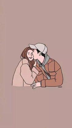 Cute Couple Drawings, Cute Couple Cartoon, Cute Couple Art, Cute Drawings, Cute Wallpaper Backgrounds, Cute Cartoon Wallpapers, Couple Illustration, Illustration Art, Vector Character
