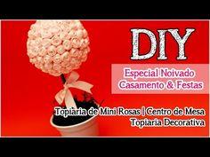 DIY: Topiaria de Mini Rosas   Centro de Mesa   Decoração