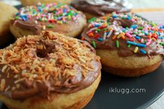 Baked Donuts with Chocolate Buttercream Frosting
