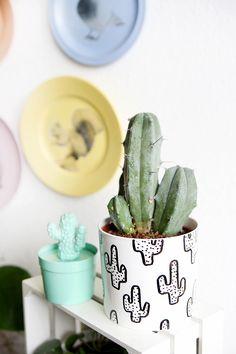 DIY Süßer Kakteen-Pflanztopf  #DIY #Kakteen #Pflanzen