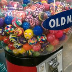 One of my favorite things to put in a shoebox: 25-cent bouncy balls from Old…