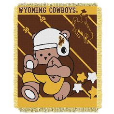 Wyoming Cowboys Gridiron Running Back Baby Blanket