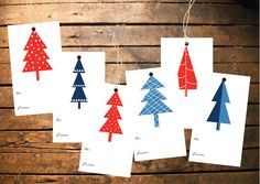 Christmas gift tags set of 12 gift tags gift tags by LiquiaDesign