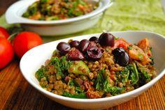 Greek Goddess Bowl « The Vegan Cookbook Aficionado Greek Recipes, Veggie Recipes, Whole Food Recipes, Vegetarian Recipes, Cooking Recipes, Healthy Recipes, Fun Recipes, Recipe Ideas, Salad Recipes