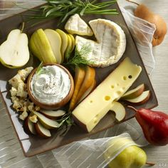 Herbed Cheese Dip and Cheese Platter
