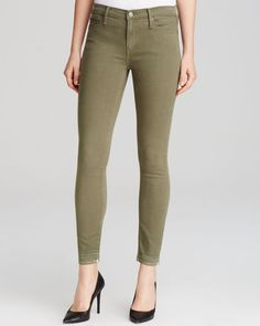 Black Orchid Jeans - Noah Crop in Alpha Olive