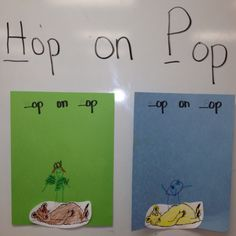 Dr Seuss Hop on Pop - Kids draw a picture of themselves hopping on Pop.