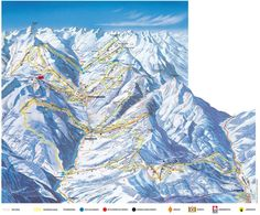 Saalbach-Hinterglemm piste map -- skiing and snowboarding - recommended
