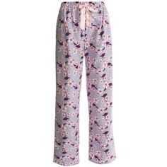 SMALL PLEASE KayAnna Printed Flannel Pajama Bottoms - Cotton (For Women) in Pink Clair De Lune