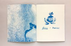 Bodies of Water — Night Diver Press Cyanotype, Zine, This Book, Shapes, Night, Drawings, Water, Artwork, Prints