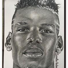 Portrait au crayon graphite de °°paul pogba°°
