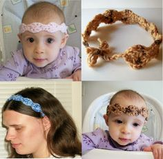 Quick #gift #Free #Crochet Pattern: Mommy and Me Headband Easy Beginner's Pattern Scrappy Teen, Adult, and Baby Size