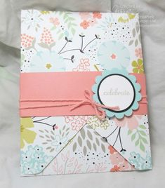 Envelope made with Envelope Punch Board and belly band.  This would make a great gift card holder.  Judi Carpenter