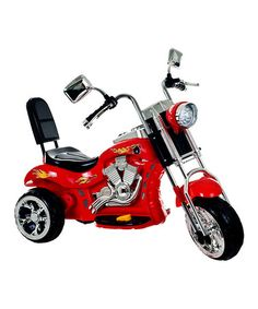 Another great find on #zulily! Red Rocking Three-Wheel Chopper Motorcycle Ride-On #zulilyfinds