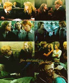 Ron and Hermione together ever since book number 1.......