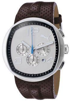 Puma Watch PU000071003 Men's Pollux Chronograph Khaki Dial Brown Textured #Jewelry #Deal #Fashion