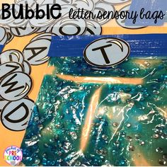 BUBBLE themed sensory bag handwriting practice plus tons of summer themed activities your preschool, pre-k, and kindergarten kiddos will LOVE! Bubble Activities, Summer Activities, Preschool Literacy, Literacy Activities, Kindergarten Prep, Preschool Centers, Preschool Alphabet, Preschool Education, Alphabet Activities