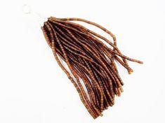 Transparent Caramel Brown Afghan Tibetan Heishi by LylaSupplies