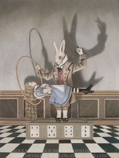 "Levitating Alice - ""Alice's Adventures in Wonderland"" by David Delamare."