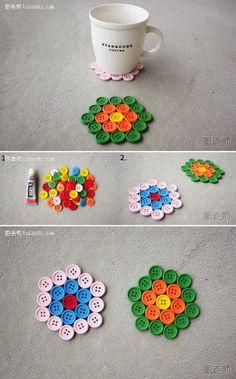 DIY : Simple Button Coaster | DIY & Crafts Tutorials