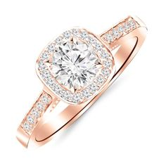 DreamJewels 2.00 Ct Princess Cut Halo Pave Eternity Lab Created Pink Sapphire /& White CZ Twist Shank Engagement Ring in 14k Rose Gold Plated Size 4-12