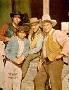 Bonanza - Ben Cartwright (Lorne Green); Adam Cartwright (Pernell Roberts); Hoss Cartwright (Dan Blocker); Joe Cartwright (Michael Landon) Loved this show and watched it for years.