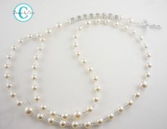 Personalized Pearl Rosary White Cream Pink Blue by hellodesigns
