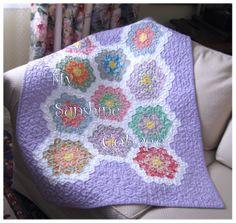 grandmother's flower garden baby quilt | Home :: Quilt Kits :: Grandmother's Flower Garden Quilt Kit, Baby Size ...