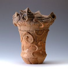 """The name Jomon in Japanese translates to """"twisted cord"""" or """"cord marked"""" due to the markings on the surface of the vessel."""