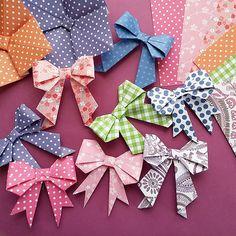 """知ってる?折り紙で作る""""立体リボン""""の作り方。活用アイデアまとめ。"""