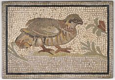 Mosaic of a Bird in a Vine by an unknown Roman artist, 3rd century-5th century…