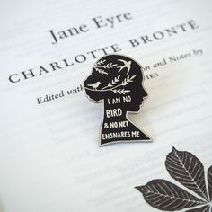 Jane Eyre Enamel Pin – Gothic Literature Collection – Jane Eyre Quote – Literature Gift – Enamel Pin Badge – Book Lover Gift – Feminist Pin by LiteraryEmporium Gothic, Be Wolf, Jane Eyre Quotes, Books And Tea, Pins Badge, Cool Pins, Book Lovers Gifts, Nerd Gifts, Book Gifts