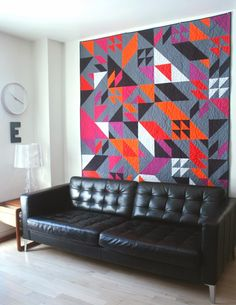 """Fantastic colors and layout in this """"Rebel Quilt"""" by Elizabeth Elliott."""