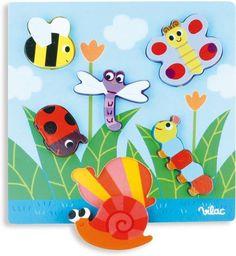 Vilac Little Bugs Peg Puzzle