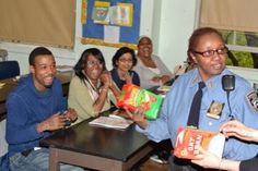 On a FoodFight visit, school staff learn about food labeling and how to make healthier choices at the grocery store.