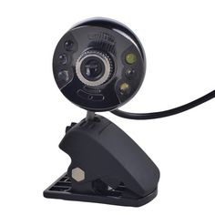 1.3MP PC / Mac USB Webcam with LED Light and Microphone (Black)