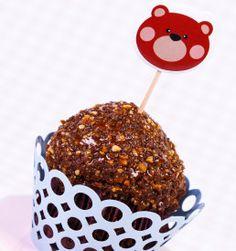 Coloque seus cupcakes, muffins ou docinhos no clima da festa com nossos palitinhos em formato de ursinho. Eles dão um efeito todo especial à mesa de doces e fazem toda a diferença.