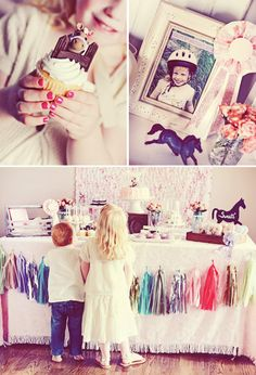 horse themed birthday party | ... > Birthday Party Ideas > {Girly & Pink} Vintage Pony Birthday Party