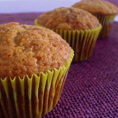 Muffin de bana com canela