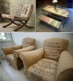 fauteuil en toile de jute